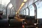 В панорамном вагоне поезда