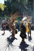 Пуэбла. Выступление индейцев на площади Сокало.