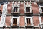 Пуэбла. Фасад колониального дома (фрагмент).