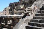 Теотиуакан. Храм Кетцалькоатля (фрагмент).
