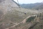 Плотина, защищающая город от селевых потоков