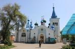Бишкек. Православный храм с охранником, запрещающим съёмку