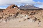 Вид на вулкан в Андах.