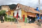 Богота. Яркие крашеные домики в центре города