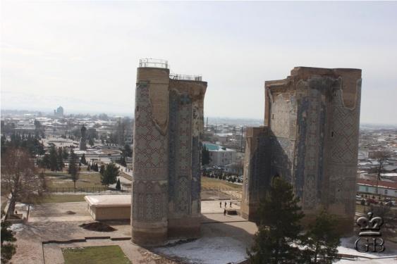 Шахрисабз. Руины дворца Тамерлана Ак-Сарай