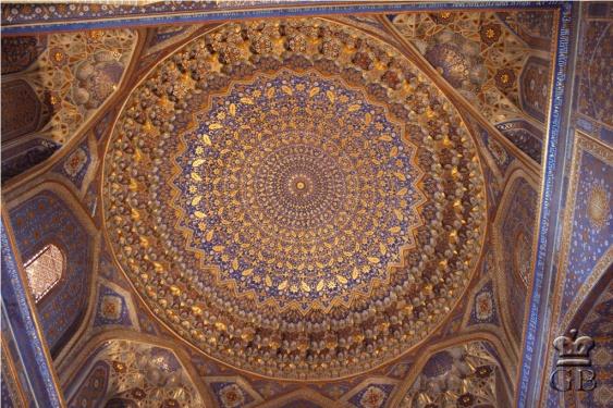 Самарканд. Купол мечети в Медресе Шер-Дор