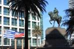 Монтевидео. Центральная площадь Независимости и памятник Артигасу.