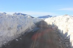 На перевале Хама выпал снег, закрывший его на 4 недели