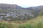 Остров Пасхи. Кратер вулкана Рану-Кау