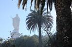 Сантьяго. Статуя Девы Марии на Серро-Сан-Кристобаль