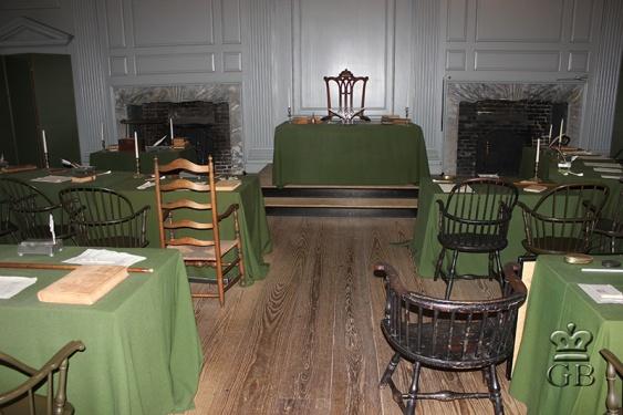 Филадельфия. В этом зале была принята Конституция США (РА)