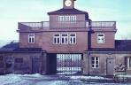 Бухенвальд. Ворота в концлагерь с надписью «Каждому свое»